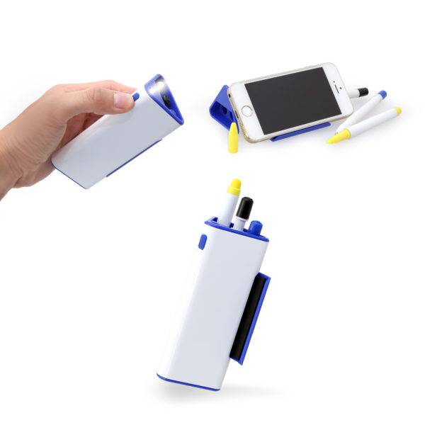 Pen Set With Phone Holder And Torch Light